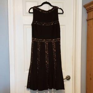 Gorgeous Black and Nude Tadashi Shoji Dress